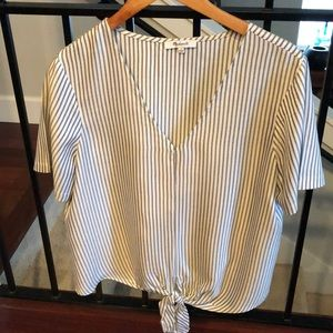 Women's Madewell Pinstriped top. Size L